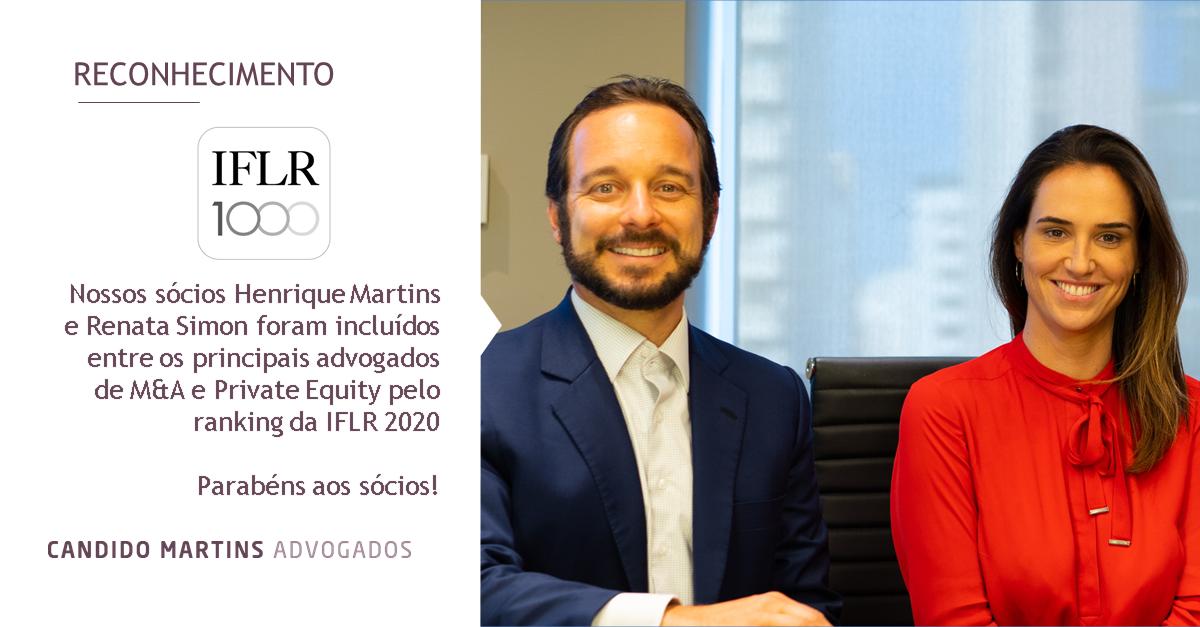 Sócios de Candido Martins destacados no IFLR1000 2020